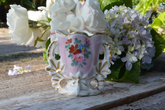 Antieke Franse porselein, oude Parijs porselein, Vintage vazen, Decor van het Franse land, Vintage bruiloft