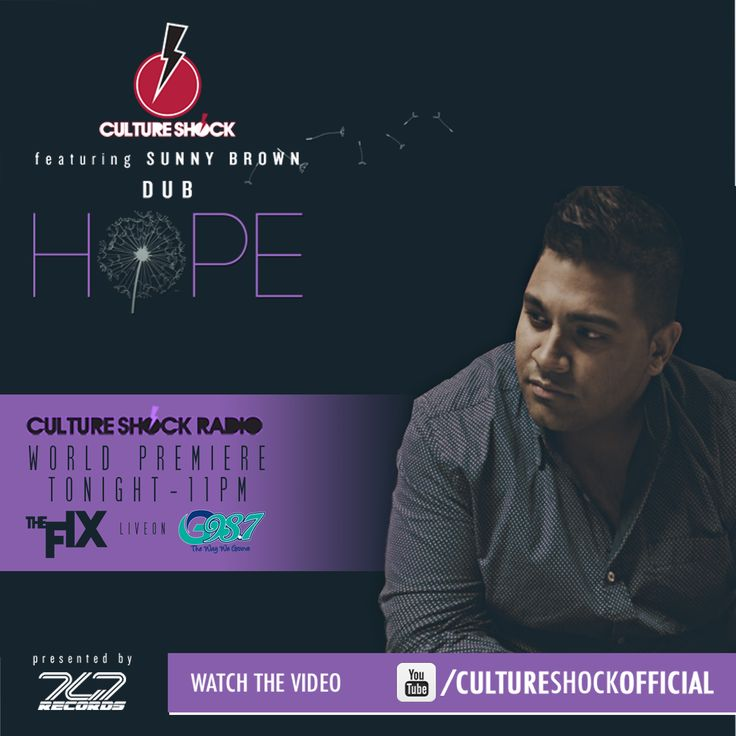 TONIGHT#THEFIX live on G98.7FM for the world premiere of the second #CULTURESHOCKDUB  #HOPE ft Sunny Brown  11pm with your host DJ Baba Kahn - stream it worldwide at http://g987fm.com/