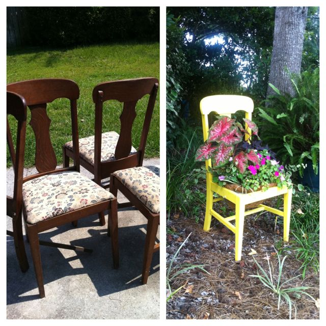 Upcycle antique, worn-out furniture.