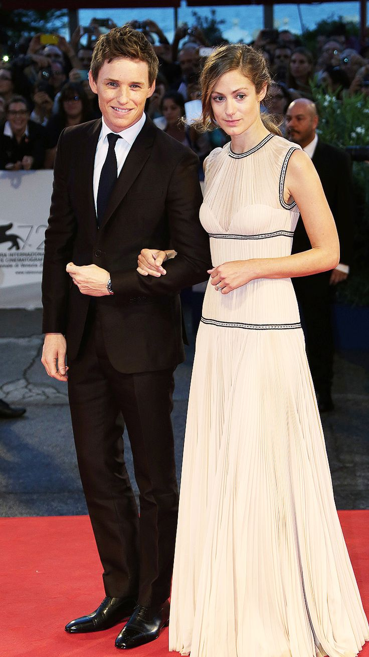 Eddie Redmayne and Hannah Bagshawe attend the world premiere of The Danish Girl at the 72nd Venice Film Festival on September 5, 2015