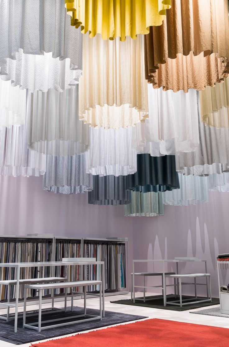 Textile heaven. Our beautiful stand at Stockholm Furniture Fair.