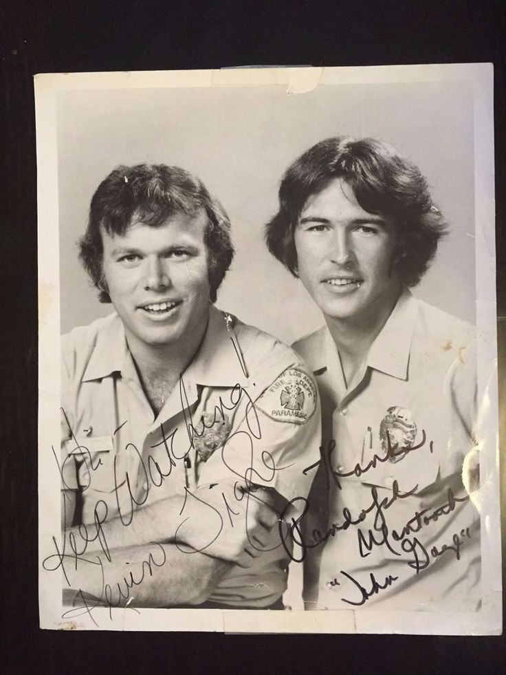 Kevin Tighe and Randolph Mantooth Signed EMERGENCY! Photo
