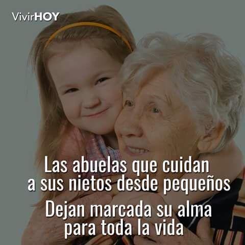 Las abuelas que cuidan a sus nietas...