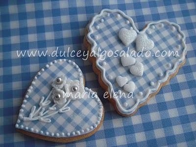 dulce y algo salado-cursos de galletas decoradas: Galletas decoradas....vichy!!!