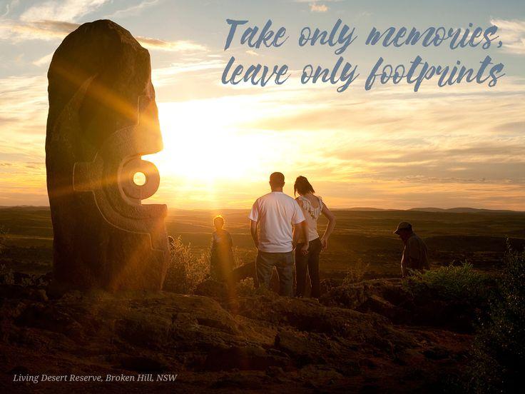 #memories #quotes #inspiration #travel #wanderlust #footprints #desert #brokenhill #NSW #sunset