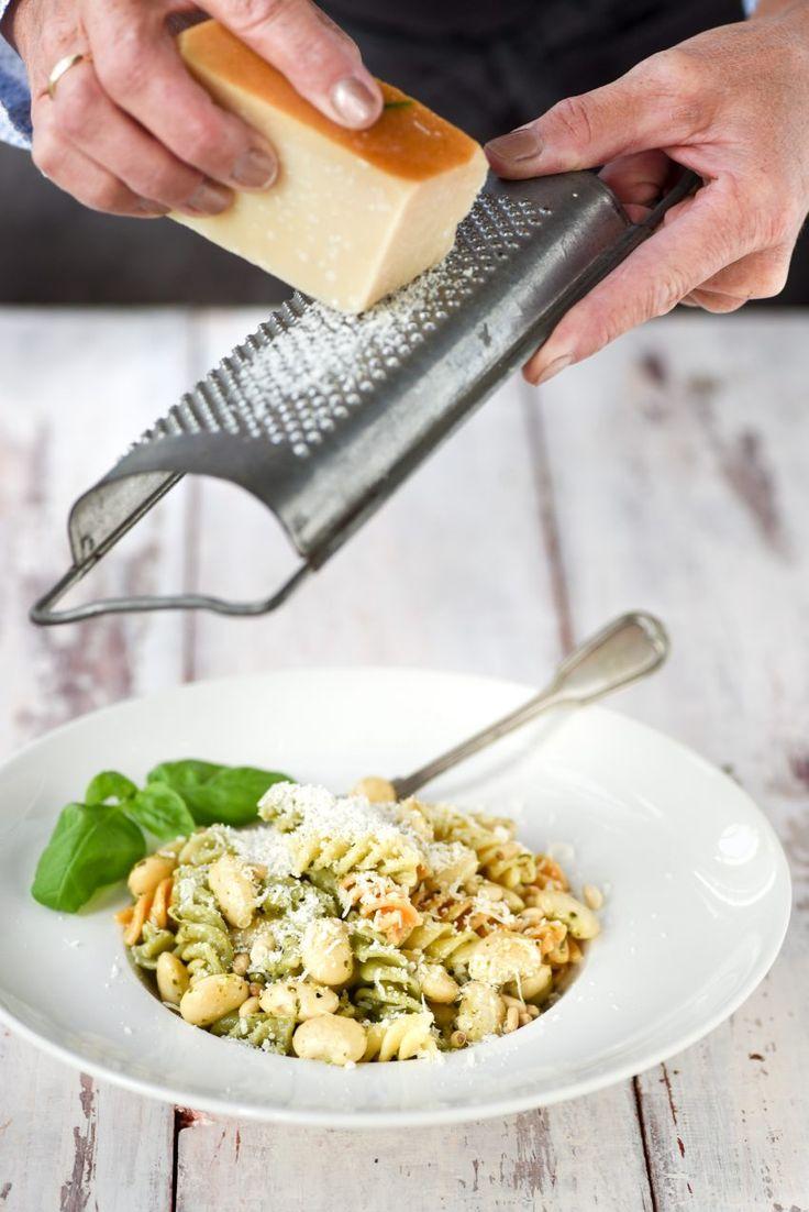 Limabonen pasta tricolore