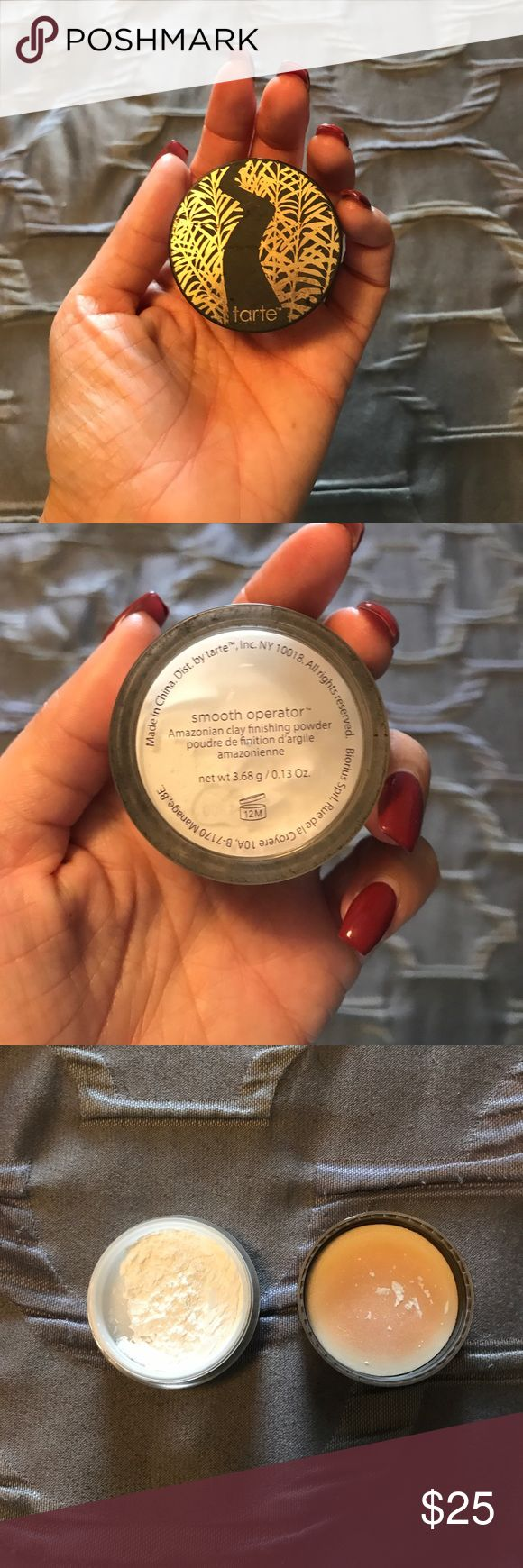 TARTE smooth operator Amazonian clay finishpowder Brand new. Has Just been sitting in my makeup desk for months. Finishing powder that goes on like silk! tarte Makeup Face Powder