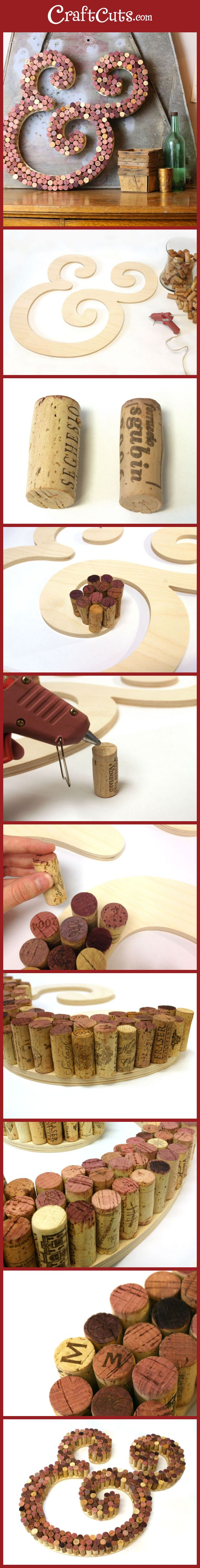 Use recycled wine corks to create this gorgeous cork letter   CraftCuts.com