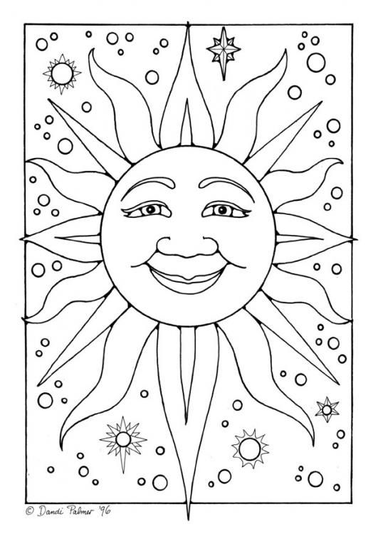 161 best Sun Moon and Stars Coloring images on Pinterest Sun