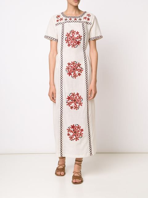Suno embroidered long tunic dress
