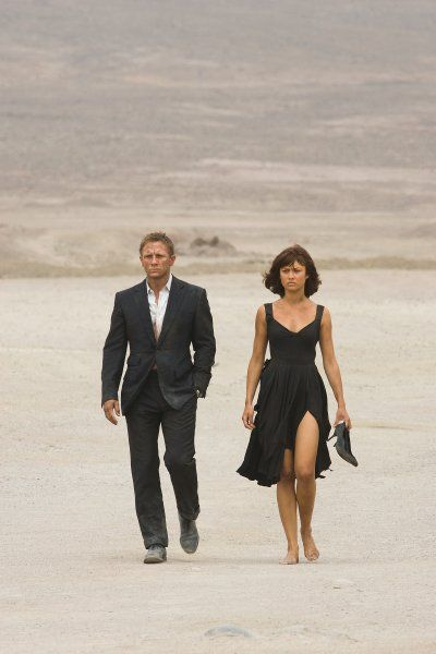 Titel: James Bond 007 - Ein Quantum Trost  Namen: Daniel Craig, Olga Kurylenko  Rollen: James Bond 007, Camille Montes