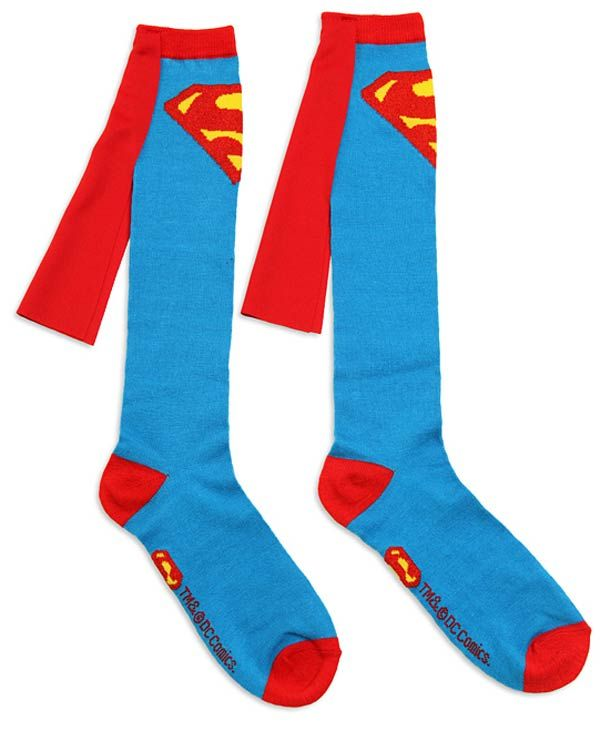 Superman socks with capes