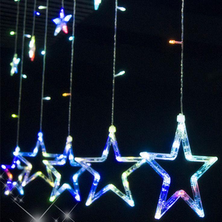 Купить VNL 110 В/240 В занавес звезды струнные светильники рождество новый год рождественские украшения светодиодные фонари цвет рождественские украшенияи другие товары категории Светодиодные кабелив магазине Shenzhen VNL Lighting Co.,LTDнаAliExpress. свет рождества и рождество привело