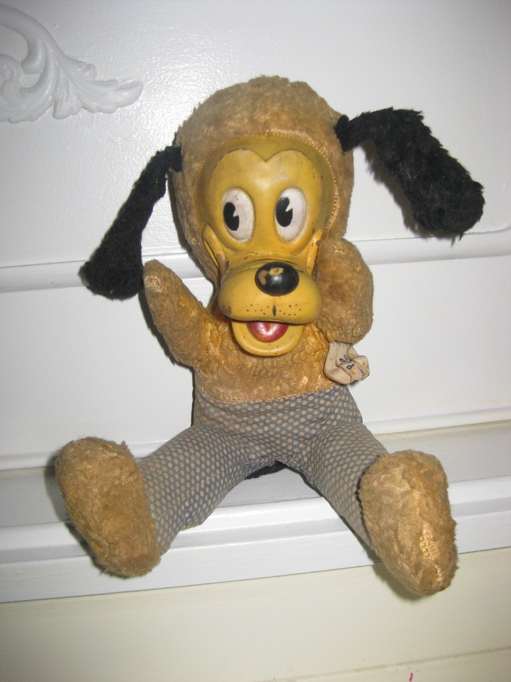 Vintage 1950's Rubber Face Gund Pluto Plush Doll Walt Disney ...