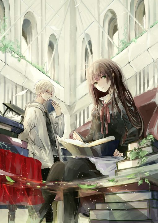 """""""try to read me from the outside and you'll never know who i am..."""" --- Anime couple?"""