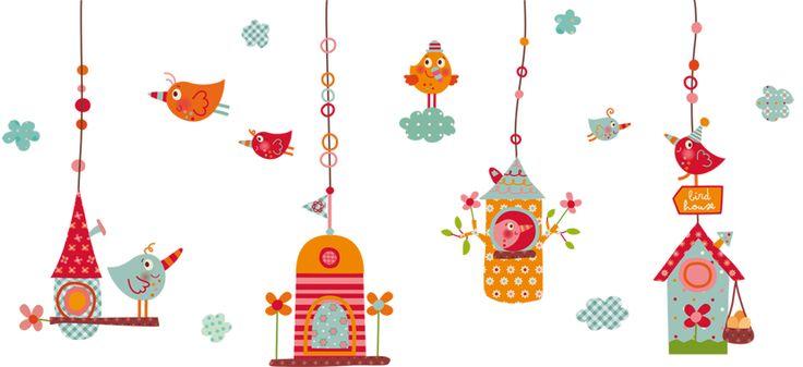 Vinilo Infantil decorativo | Los Pajaritos