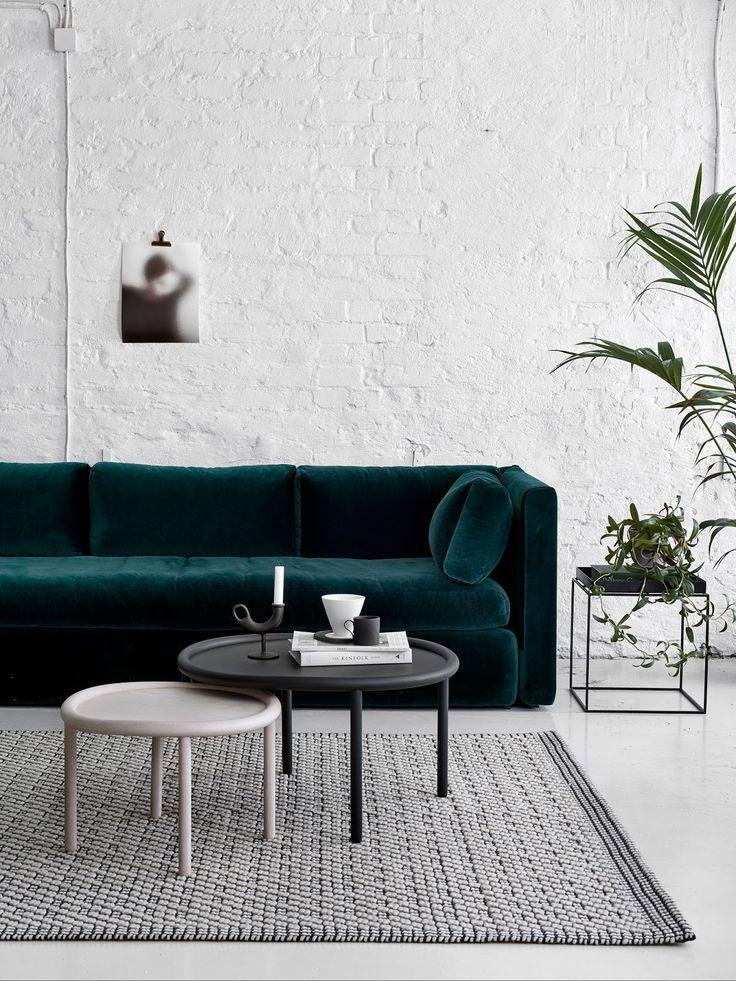 Die besten 25+ Grünes sofa Ideen auf Pinterest Samt Sofa - wohnzimmer einrichten grun