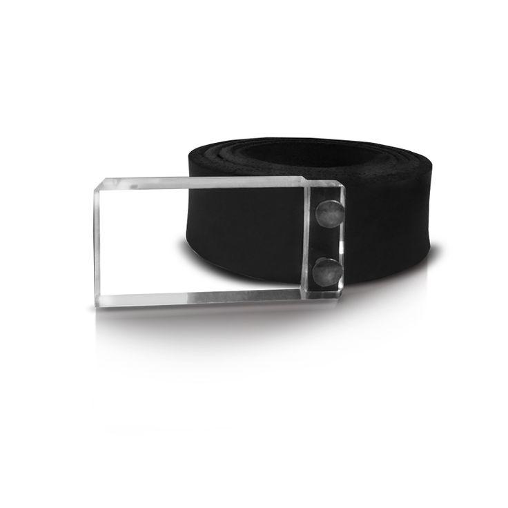 leather belt with plexiglass. http://larou.gr/product/zerotwo12/