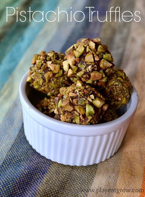 Play Eat Grow: Pistachio Truffles Chocolate, pistachios, and cream ...