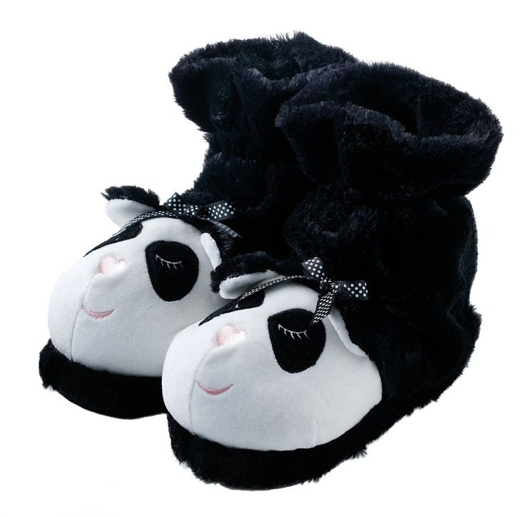 Some soft and cosy panda slipper socks.
