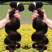 Echthaar Tressen Haarverlängerung 100% Virgin hair Tresse 100g 50cm Gewellt