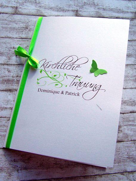 Kirchenheft Hochzeit Ranke Schmetterling www.kartenmanufaktur-arndt.de