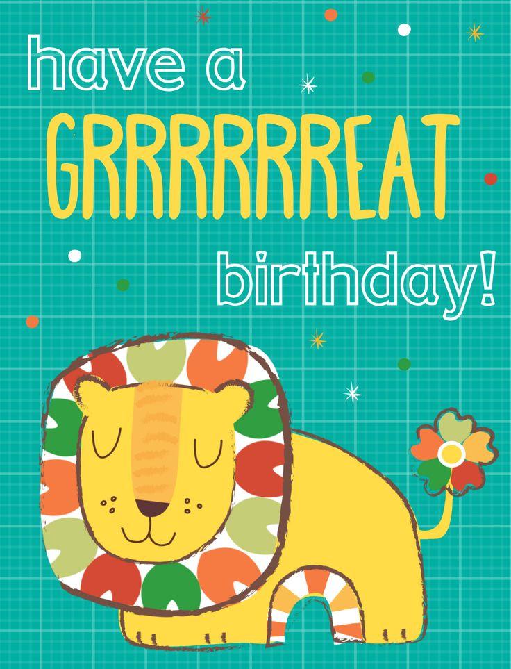 #BirthdayCard #KidsCards #Lion