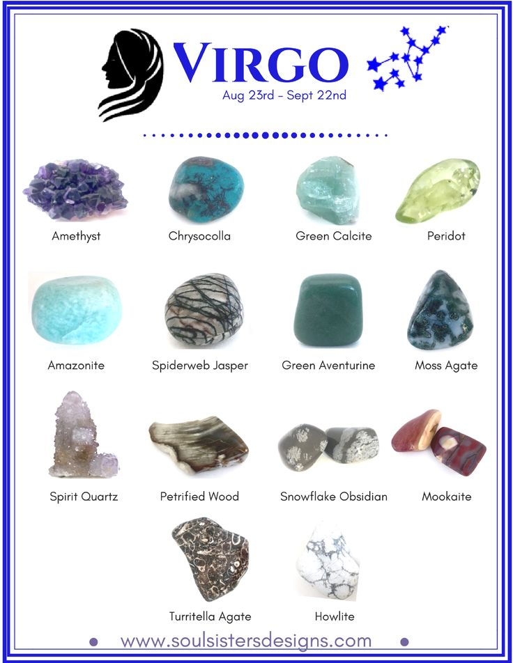 Virgo Healing Crystals by Soul Sisters Designs
