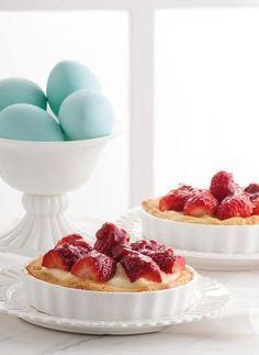 Τάρτα με φράουλες και αμύγδαλα
