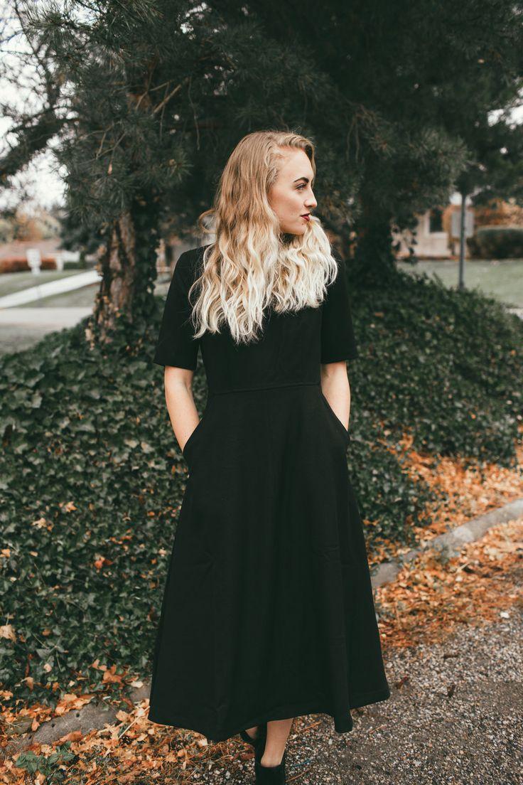 Collins Dress in Black | ROOLEE