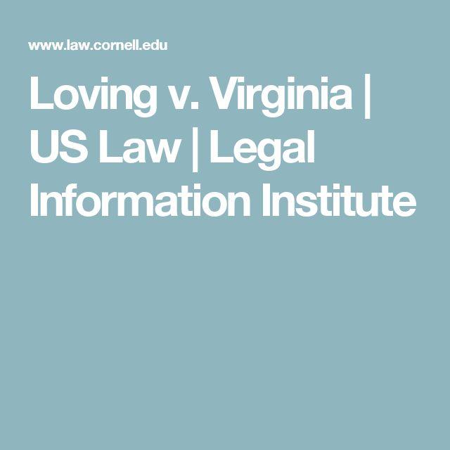 Loving v. Virginia   US Law   Legal Information Institute