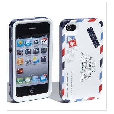 """Fashion """"Airmail"""" Skin Back Case Cover for iPhone 4/4S/5"""