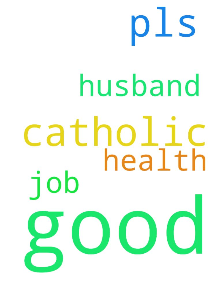 pls pray for me for a good catholic - pls pray for me for a good catholic husband and a good job and health Posted at: https://prayerrequest.com/t/B5y #pray #prayer #request #prayerrequest