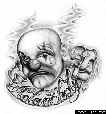 Melancholy Payaso Cholo Art | Clown's of my taste | Pinterest