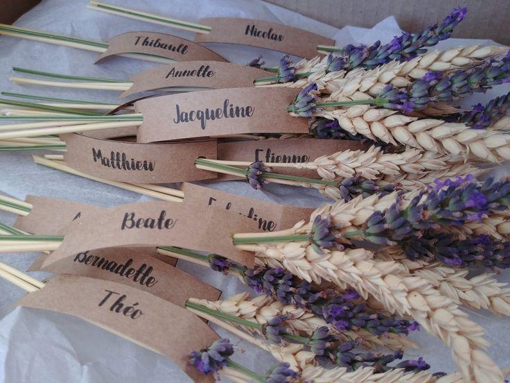 Marque place blé lavande plan table