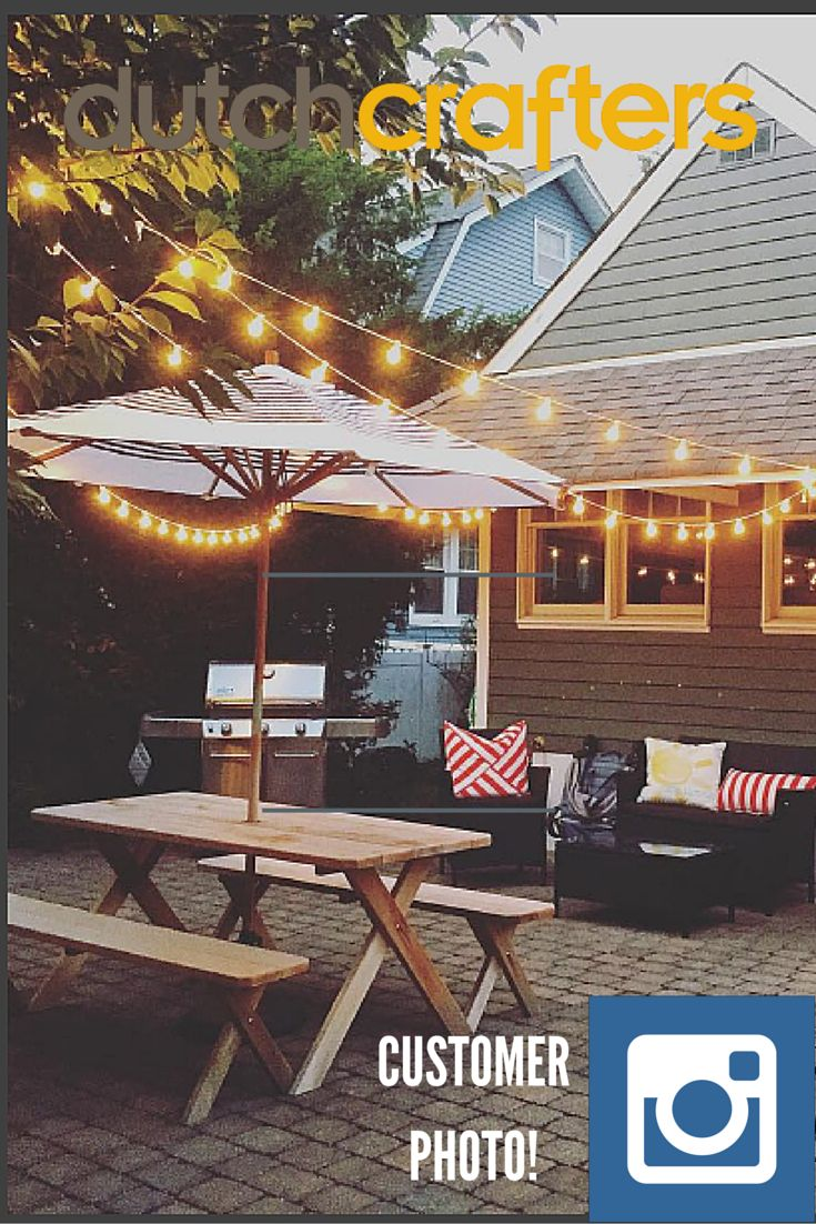 Customer photo via #Instagram . . . anyone else up for a summer night at this home?  Shop picnic tables for your own lovely summer night!