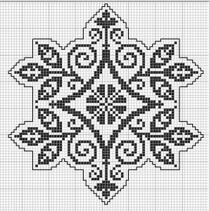 Octogonal 07 | Free chart for cross-stitch, filet crochet | Chart for pattern - Gráfico