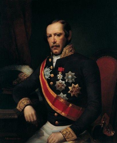 Fransa'nın İstanbul Büyükelçisi Antoine Edouard Thouvenel'in Portresi // Portrait of Antoine Edouard Thouvenel French Consul General in Istanbul, Adolph Diedrich Kindermann (1854)