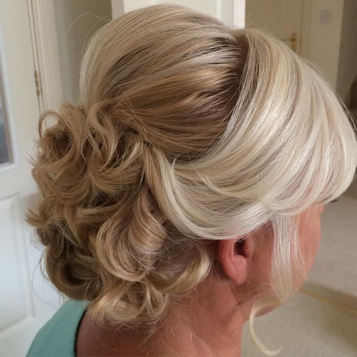Curly Updo With Bouffant For Older Women
