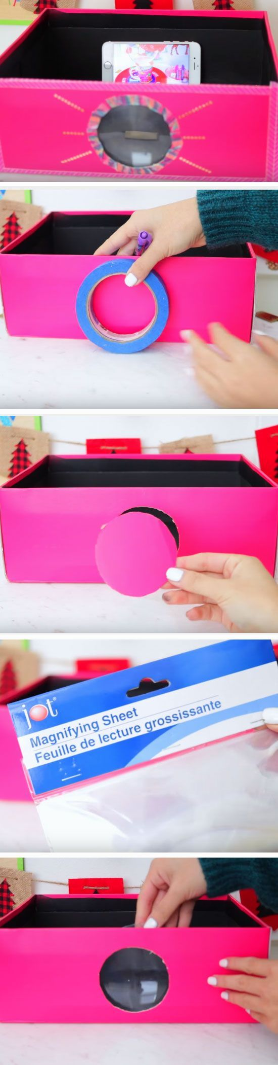 Smartphone Projector   19 DIY Movie Night Ideas for Teens that will get the party started!