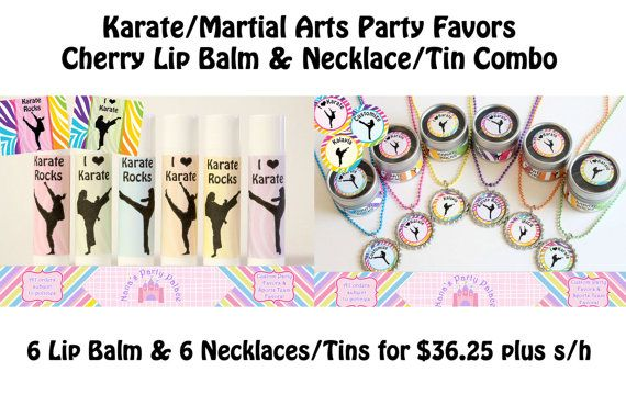 Karate Party Favors Tae Kwon Do Favors by NanasPartyPalace ...