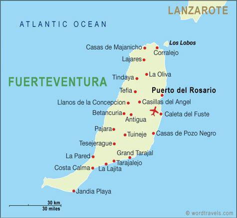 fuerteventura map.
