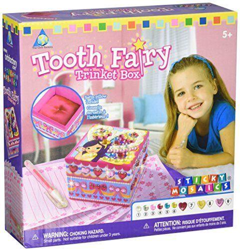 Sticky Mosaics Kit-Tooth Fairy Trinket Box