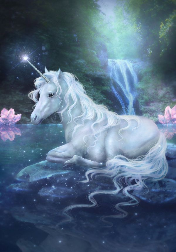 """I knew nothing about unicorns other than they were mythical horses, but the unicorn telepathically imparted information into my consciousness. He told me that they were etheric beings, seventh dimensional ascended horses fully of the angelic realms. They are aspects of the divine in the same way that angels are"" ~ words by Diana Cooper ♥♥ Beautiful Art by DolceCaramella on deviantART"