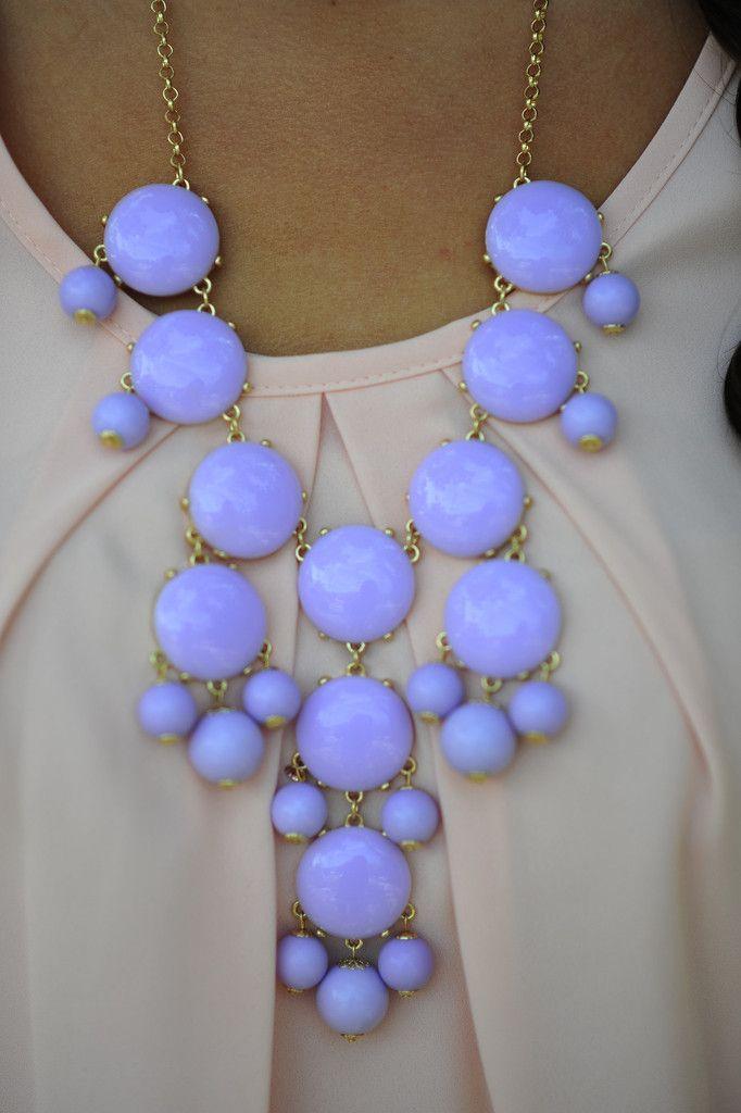 The Pale Purple Crew Necklace. LOVE the color
