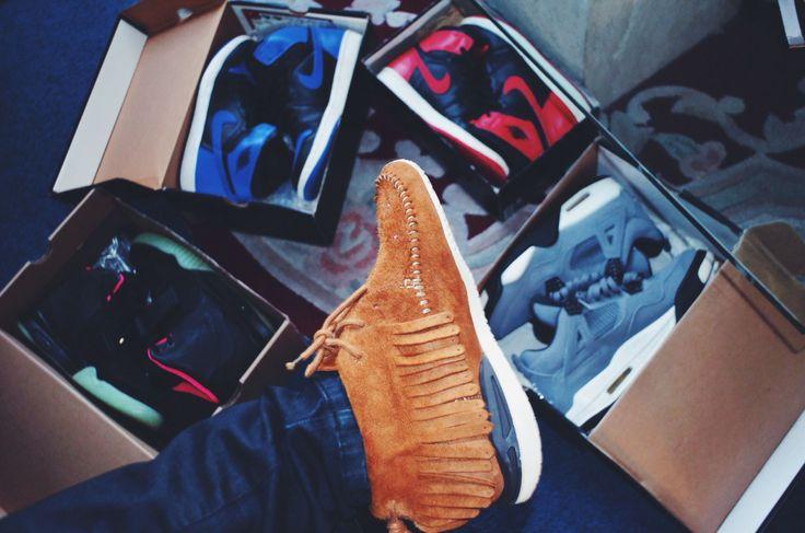 Visvim, Jordans, Yeezys #sneakers...kinda weird not gonna lie
