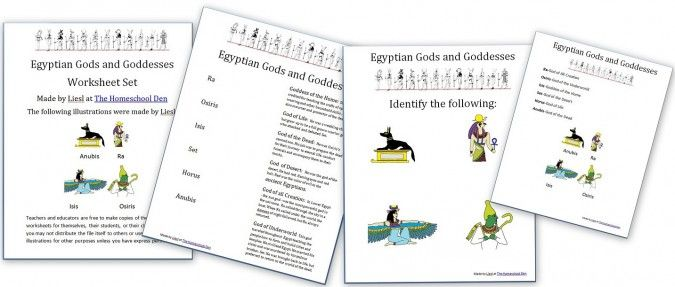 EgyptianGodsGoddessesWorksheetSet – Egyptian Math Worksheet