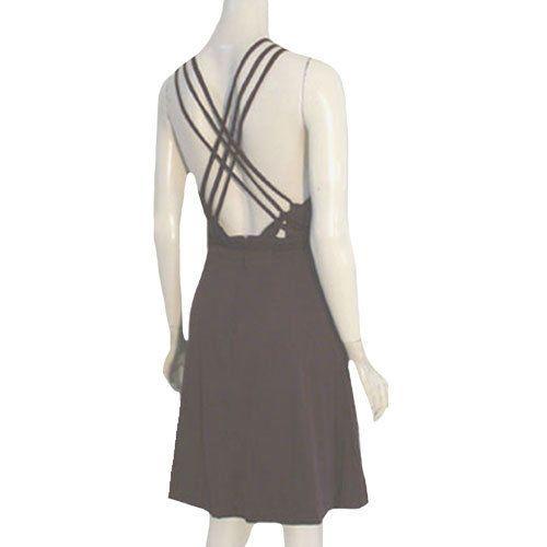 Vintage Dress Halter Slinky 1970s Disco Queen Open Back Dress by FUNKY #Funky