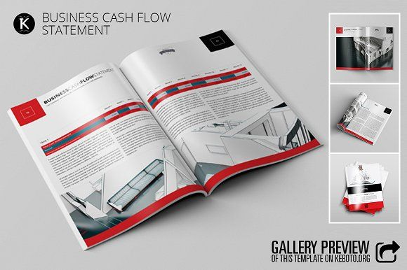 Business Cash Flow Statement by Keboto on @creativemarket