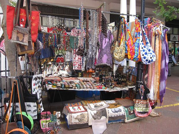 Traditional Market in South Africa: Green Point Market, Cape Town